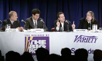 PANEL DISCUSSION ON MOVIES AT ENTERTAINMENT BUSINESS CONFERENCE.