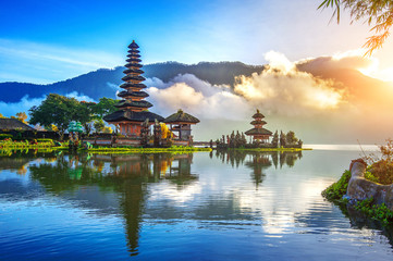 Printed kitchen splashbacks Bali pura ulun danu bratan temple in Bali, indonesia.