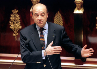 French Prime Minister Alain Juppe adresses France's National Assembly April 15. The Assembly began a..