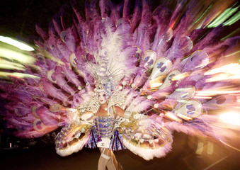 FILE PHOTO OF DRAG QUEEN WEARING COSTUME AT SYDNEY'S GAY AND LESBIAN MARDI GRAS PARADE.