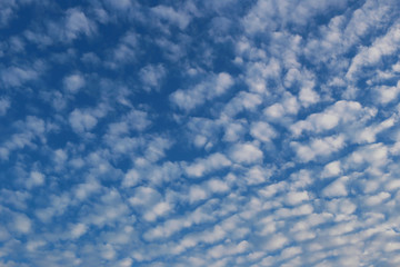 Blue sky and white clouds in bright morning.