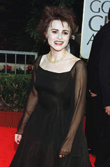 Actress Helena Bonham Carter arrives for the 55th annual Golden Globe Awards in Beverly Hills, Janua..