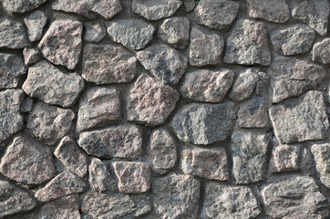 Weathered and rough stone wall background
