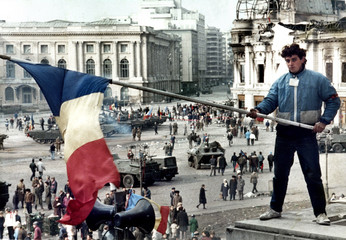 FILE PHOTO OF ROMANIAN REVOLUTION IN 1989.