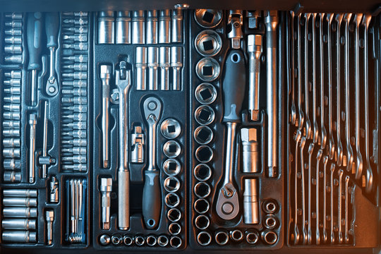 Fully Equiped Tool Kit. Work instrument.