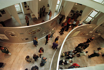"""Overview of the groundfloor of the """"Fridericianum"""" museum, which is the largest exhibition building .."""