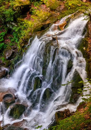 waterfall Shypot in Carpathian forest