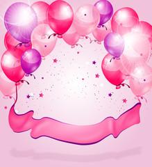 Pink purple birthday background