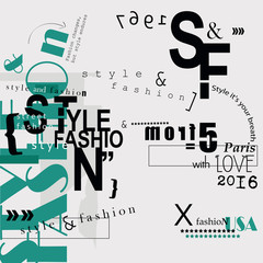 STYLE and FASHION word cloud concept.