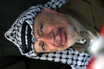 YASSER ARAFAT VISITS OPENING OF ORTHODOX CHRISTIAN SCHOOL IN GAZA.