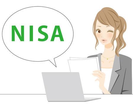 イラスト素材 NISA PC