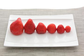 6 fraises