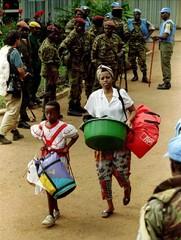 FILE PHOTO OF U.N. AND RWANDAN REBELS.