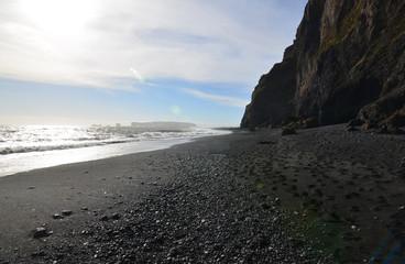 Beautiful Reynisfjara Beach in Southern Iceland