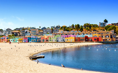 Colorful residential neighborhood in Capitola, California Wall mural