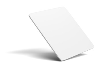 White blank card on white background