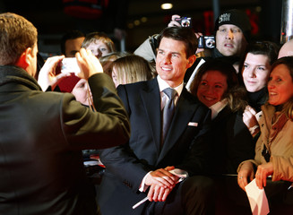 U.S. actor Tom Cruise arrives on the red carpet for movie premiere in Berlin