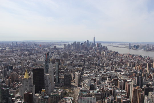View at Manhattan Downtown from Empire State Building