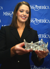 Miss America Diedre Downs puts her crown away in New York City.