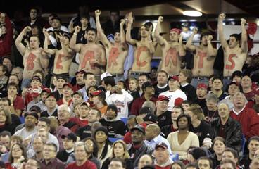 University of Cincinnati Bearcats fans cheer for their team in Toronto