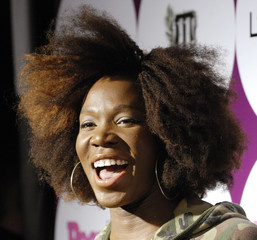 Singer India.Arie arrives at a post-Grammy Awards party hosted by Beyonce and People magazine in West Hollywood, California