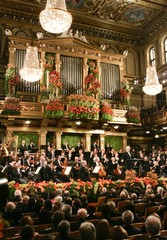 Maestro Barenboim conducts the Vienna Philharmonic Orchestra during the New Year's Concert 2009 in Vienna