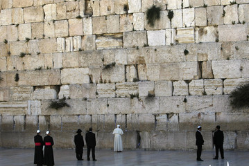 Pope Benedict visits the Western Wall in Jerusalem