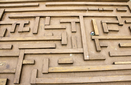 Labyrinth with marble