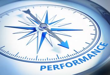 Kompass weiß blau Performance