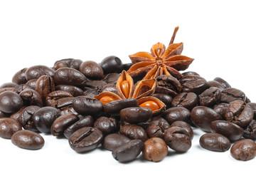 Star Anise Coffee bean .