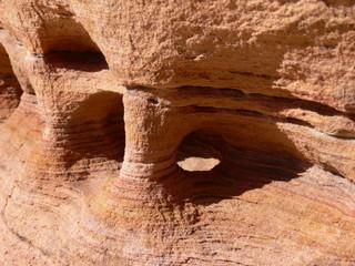 Desert sandstone natural sculptures and patterns