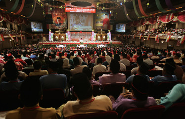 General view of annual gathering of Malaysia's ruling United Malays National Organisation in Kuala Lumpur
