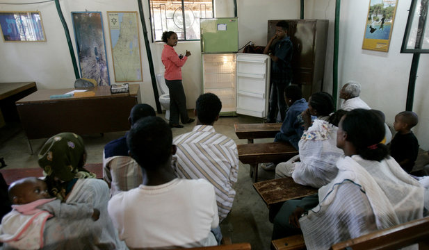 Ethiopians whose roots trace back to Judaism,  learn about modern life facilities in Addis Ababa