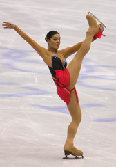 ITALIAN FONTANA PERFORMS DURING OLYMPIC WOMENS FREE SKATING COMPETITIONIN SALT LAKE CITY.