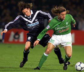FRENCH FIRST DIVISION SOCCER MATCH BETWEEN BORDEAUX AND SAINT-ETIENNE.