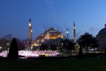 the Blue Mosque in the istanbul, Turkey
