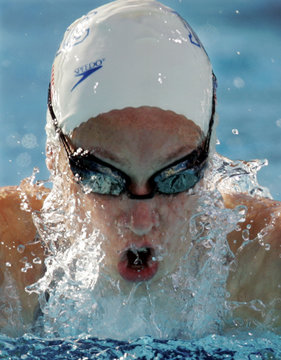 KATIE HOFF IN ACTION TO WIN 200M INDIVIDUAL MEDLEY AT US TRIALS.