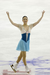 Yukari Nakano of Japan performs in the ladies free skating event at the 2008 Skate America international figure skating competition in Everett, Washington