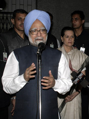 India's PM Singh addresses news conference in Guwahati