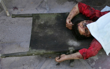 Body of slain Iraqi woman lies in morgue at Yarmouk Hospital in Baghdad