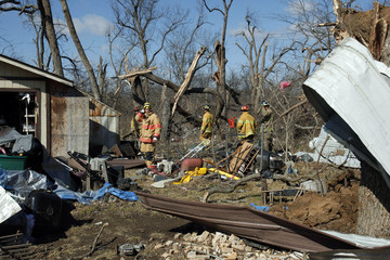 Firefighters search for bodies amidst tornado damage in Lone Grove, Oklahoma