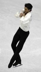 Lysacek of the U.S. performs during the men's free skating program at the ISU Four Continents Figure Skating Championships in Goyang