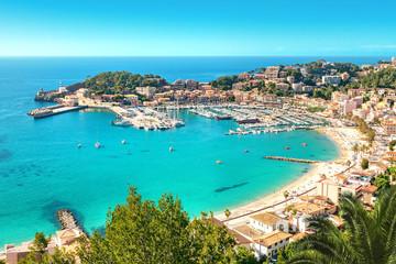 Port de Soller Mallorca Majorca Spanien Bucht