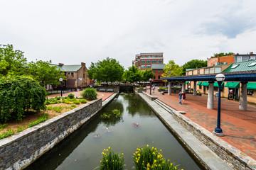 Carroll Creek Promenade Park in Federick, Maryland