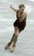 Netherlands' Venhuizen performs during the women's Short Programme of the European Figure Skating Championships in Warsaw