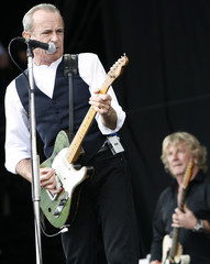 Francis Rossi and Rick Parfitt of British rock group Status Quo perform at the Glastonbury Festival 2009 in south west England