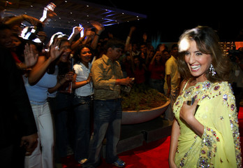BOLLYWOOD ACTRESS ZORABIAN ARRIVES FOR AWARDS CEREMONY IN BOMBAY.