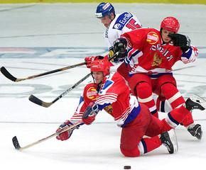 CZECH REPUBLIC PLAYS FRIENDLY ICE HOCKEY MATCH AGAINST RUSSIA.
