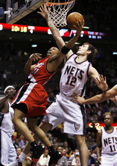 Nets Krstic stops Trail Blazers Telfair in East Rutherford