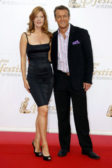 U.S actors Doug Davidson and Michelle Stafford pose during the opening ceremony of the Monte Carlo television festival in Monaco